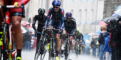 Rainy stage at Tour de Bretagne