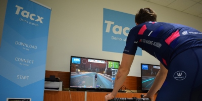 Kaden Groves sprints to second in Zwift's Kiss Road Race